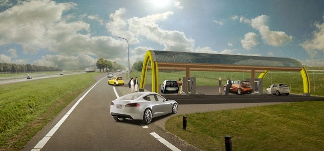 Dutch electric-car drivers will never be far from a place to charge
